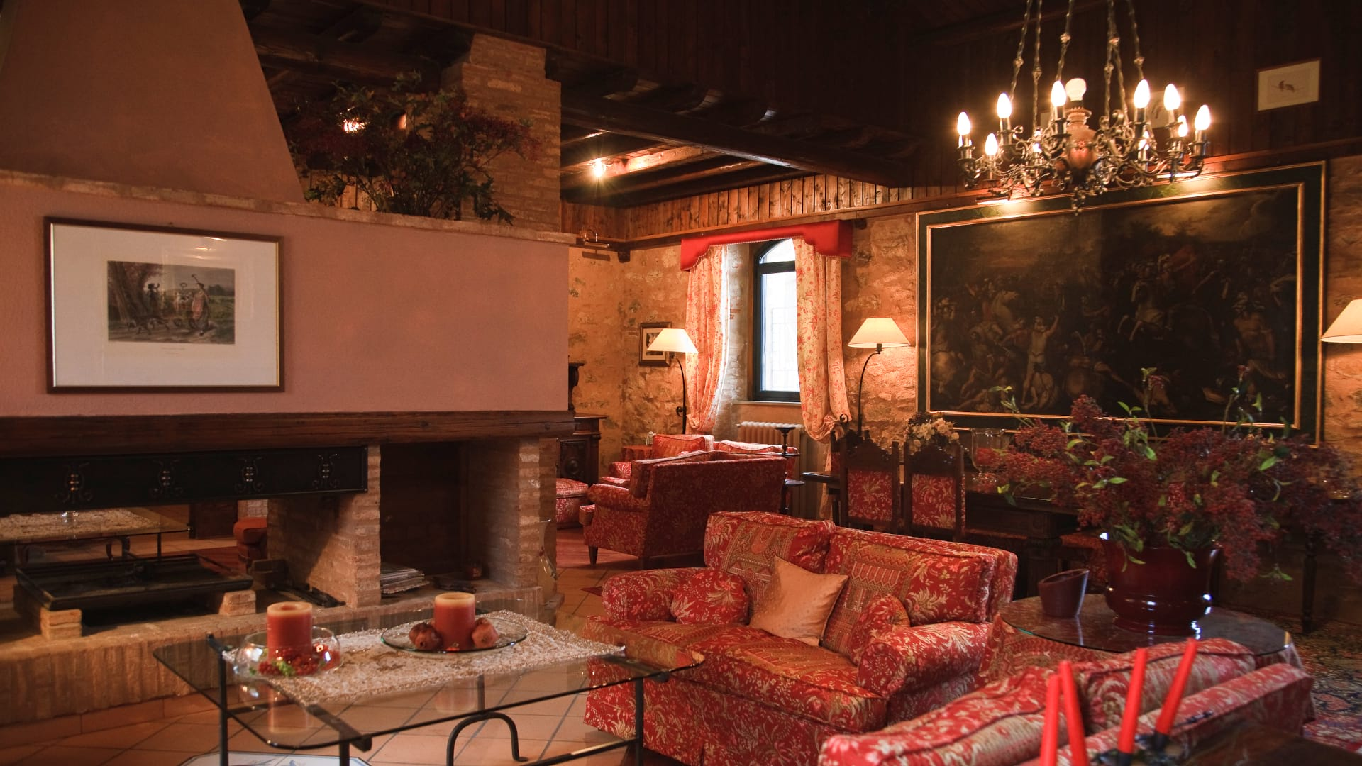 Fireplace room or Ruggero room